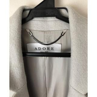 アドーア(ADORE)のADORE ♡ライトグレー 柔らか 軽い コート(ピーコート)
