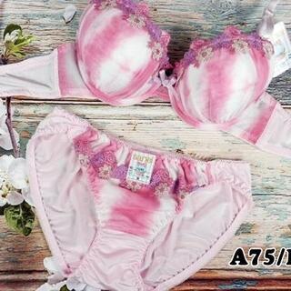 SE65★A75 M★美胸ブラ ショーツ 谷間メイク グラデーション ピンク