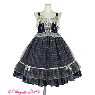 Angelic Pretty - Angelic Pretty Twinkle Tonightジャンパースカート紺