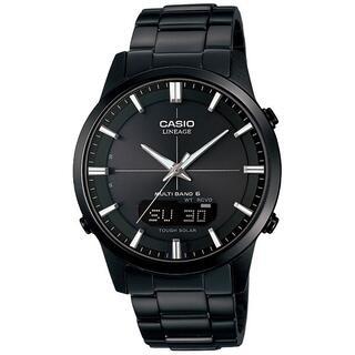 カシオ(CASIO)のカシオ LINEAGE メタルバンドモデル 電波ソーラー 腕時計 ブラック(腕時計(アナログ))