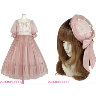Angelic Pretty - Angelic Pretty Vintage Tulleワンピース+キャノティエ