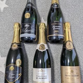 高級辛口シャンパーニュ5本セット(シャンパン/スパークリングワイン)