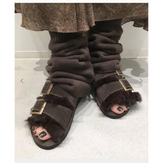 アパルトモンドゥーズィエムクラス(L'Appartement DEUXIEME CLASSE)のRita様専用  LEG WARMER ブラウン新品未使用 タグなし(レッグウォーマー)