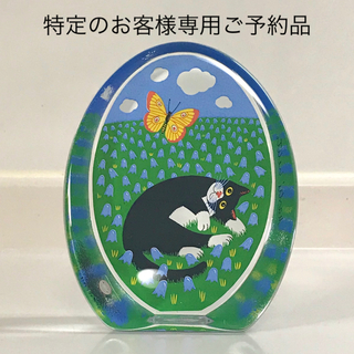 """イッタラ(iittala)のiittala ガラスカード """"Kissa ja perhonen""""(置物)"""
