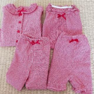 ニシマツヤ(西松屋)のキッズ ベビー パジャマ 半袖長袖 サイズ80(パジャマ)