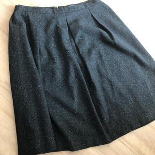 インディヴィ(INDIVI)のINDIVI ウールスカート (ひざ丈スカート)