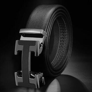 メンズ ベルト  自動ロック サイズ調整可能120cm(その他)