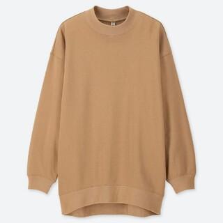 UNIQLO - ユニクロ スウェット モックネック ロングシャツ