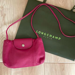 LONGCHAMP - 美品⭐️ロンシャン ル プリアージュ キュイール メッセンジャーバッグ ピンク