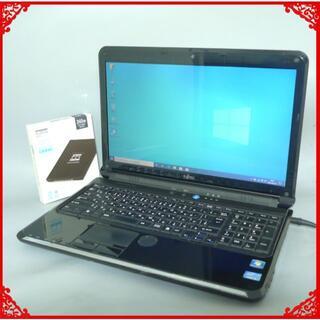 富士通 -  新品SSD 中古ノートパソコン 富士通 AH56/C i5 Win10