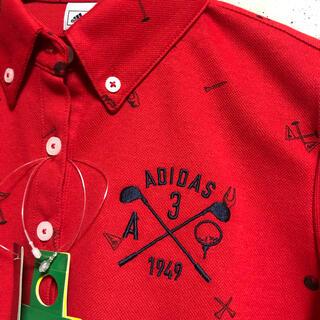 アディダス(adidas)のアディダス   ゴルフ 長袖ポロシャツ レディース  Ⓜ️(ウエア)