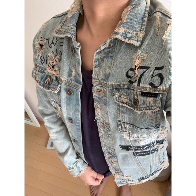 ZARA(ザラ)のZARA (ダメージジージャン) メンズのジャケット/アウター(Gジャン/デニムジャケット)の商品写真