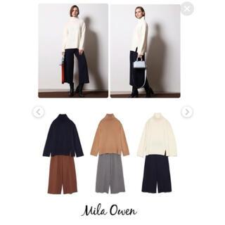 Mila Owen - 【MilaOwen】カジュアルニットパンツ