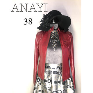 アナイ(ANAYI)のレザー❣️ANAYI赤ライダースカッコイイ(レザージャケット)