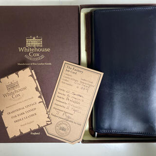 ホワイトハウスコックス(WHITEHOUSE COX)のホワイトハウスコックス ヴィンテージブライドルレザー 長財布 ネイビー(長財布)