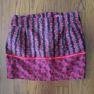 ザラ(ZARA)のZARA TRF ミニスカート 花柄(ミニスカート)