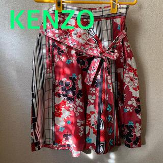 ケンゾー(KENZO)のKENZO 変形プリーツスカート(ひざ丈スカート)