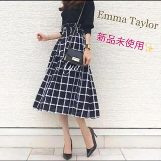 ザラ(ZARA)の【新品未使用】Emma Taylor♡チェック♡ロングフレアスカート(ロングスカート)