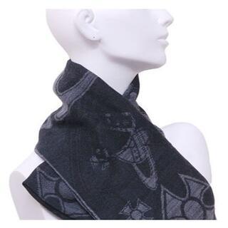 Vivienne Westwood - ヴィヴィアンウエストウッド リバーシブル オーブ ロゴ 羊毛 100% マフラー