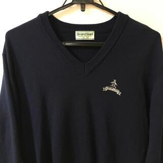 マンシングウェア(Munsingwear)のMunsingwear  Vネック セーター ニット グランジ  古着 ネイビー(ニット/セーター)