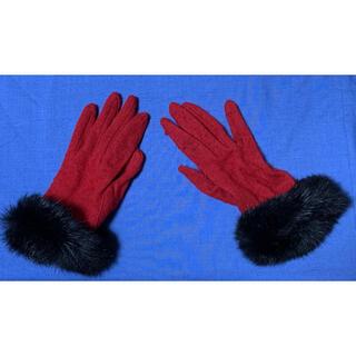 コムサイズム(COMME CA ISM)のCOMMECAISMラビットファー付きグローブ手袋(手袋)