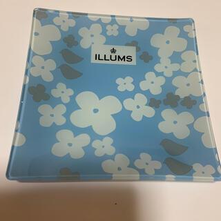 サントリー(サントリー)のILLUMSガラスプレート 青(食器)