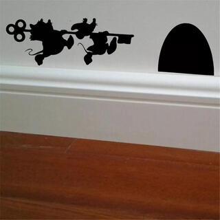 シンデレラ ネズミ ウォールステッカー プリンセス 壁 扉 インテリア ねずみ(ウェルカムボード)