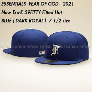 FEAR OF GOD - ESSENTIALS New Era Fitted Hat Blue 7 1/2