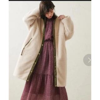 ナチュラルクチュール(natural couture)のナチュラルクチュール 配色ボアリバーシブルミドルコート(ロングコート)