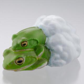カイヨウドウ(海洋堂)のカプセルQミュージアム 財布にカエル「お財布蛙2」 シュレーゲルアオガエル(キャラクターグッズ)