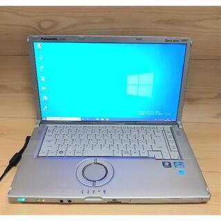 エヌイーシー(NEC)の中古ノートPC Pana CF-B10PWYYS i3 160G Win10 (ノートPC)
