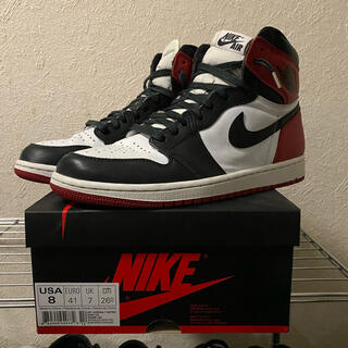 ナイキ(NIKE)のNIKE AIR JORDAN1 RETRO OG BLACK TOE 26cm(スニーカー)