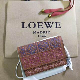 LOEWE - 【ロエベ】【訳あり品】LOEWE バーティカル カーフ スモール 折り財布