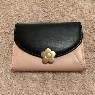 マリークワント(MARY QUANT)のマリークワント マリクワ 小銭入れ 財布 ピンク 黒 デイジー 花 (コインケース)