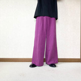 JOHN LAWRENCE SULLIVAN - purple flare wide trousers
