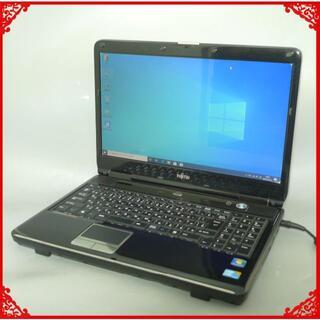 ノートPC 15.6型 富士通 AH550/5A 500G ブラック