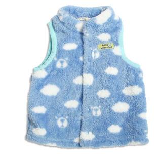 アンパサンド(ampersand)の新品 baby ampersand アンパサンド ボアベスト ブルー クマ(ジャケット/コート)