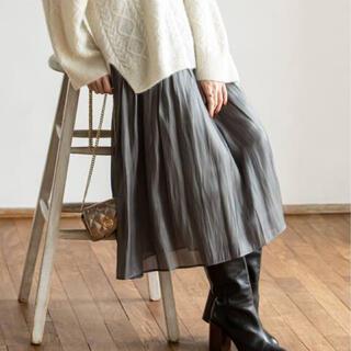 ノーブル(Noble)のNOBLE シャイニーギャザースカート(ロングスカート)