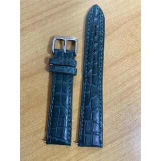ラグ幅19mm クロコダイルレザー ワニ革 時計ベルト 19x16mm 銀尾錠