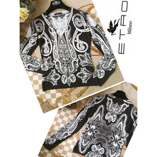 エトロ(ETRO)の格安セール☆極美品 ETRO エトロ 洗練 シルク カシミヤ 着痩せ セーター(ニット/セーター)