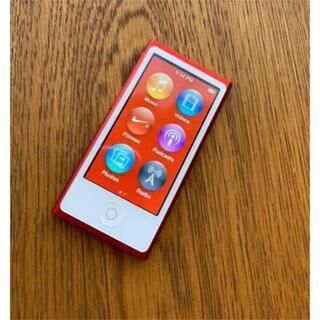 アップル(Apple)のApple ipod nano 第7世代 レッド 限定カラー(ポータブルプレーヤー)