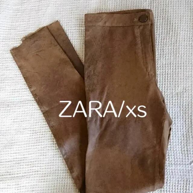 ZARA(ザラ)の*試着のみ ZARA フェイクレザーレギンスパンツ XS レディースのパンツ(カジュアルパンツ)の商品写真