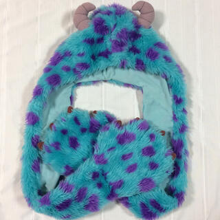 ディズニー(Disney)の美品  ディズニー  サリー  ファンキャップ帽子 マフラー 手袋(キャラクターグッズ)