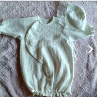 ベビードレス セレモニードレス ロンパース カバーオール 50 60 新生児(セレモニードレス/スーツ)