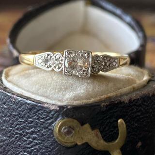 アンティーク 英国エドワーディアン時代 ダイヤモンドリング ソーティング付き