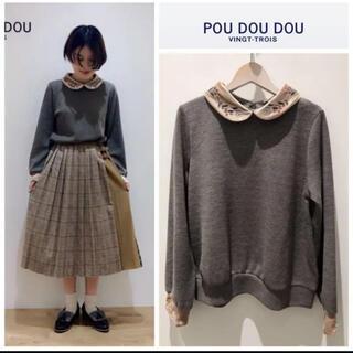 プードゥドゥ(POU DOU DOU)の新品♡プードゥドゥ♡ニットソーベロア刺繍衿プルオーバー(ニット/セーター)