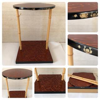 ◆茶道具◆三千家好 木製 金蒔絵 竹柱 三友棚 組立式◆紙箱 美品(漆芸)