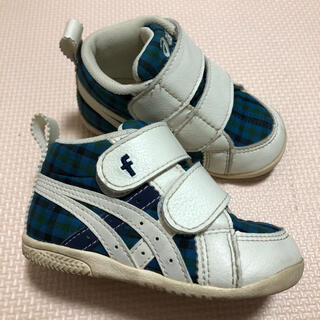 ファミリア(familiar)のファミリア アシックス 靴 スニーカー 12.5 男の子 ファミリアチェック (スニーカー)