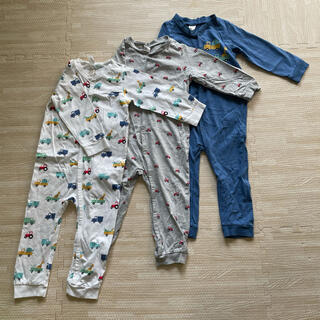 エイチアンドエム(H&M)の新品未使用 H&M パジャマ ロンパース  長袖 長ズボン(パジャマ)
