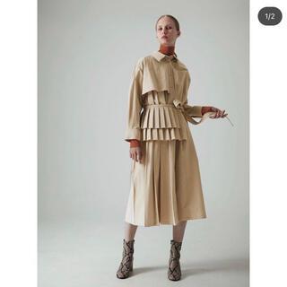 LE CIEL BLEU - Pleated Belt Shirt Dress /  LE CIEL BLEU